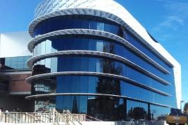 fachada muro cortina paneles aluminio Campofrío Burgos