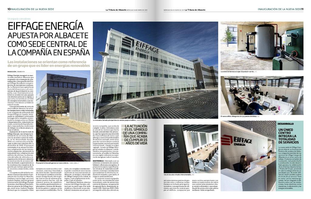 Eiffage Energía apuerta por Albacete como sede Central