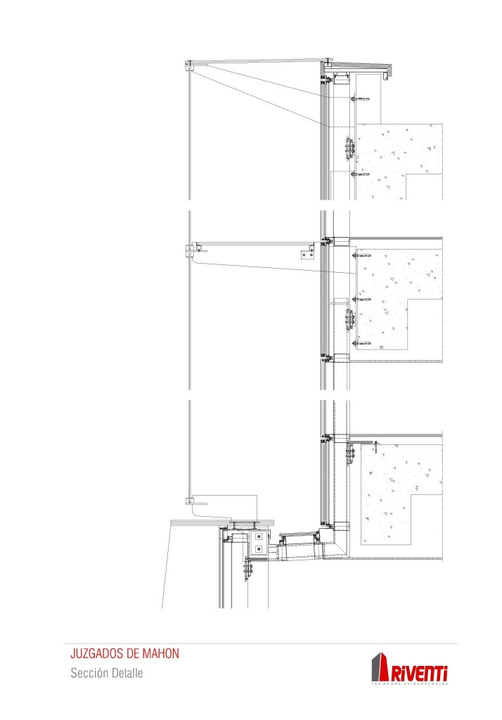 Fachada-Juzgados-Mahon-doble-piel-riventi-detalle-seccion