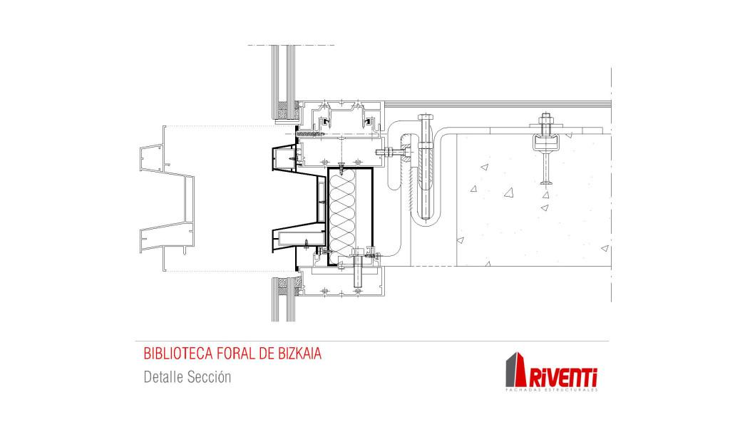 Fachada-biblioteca-foral-muro-cortina-modular-Riventi-detalle