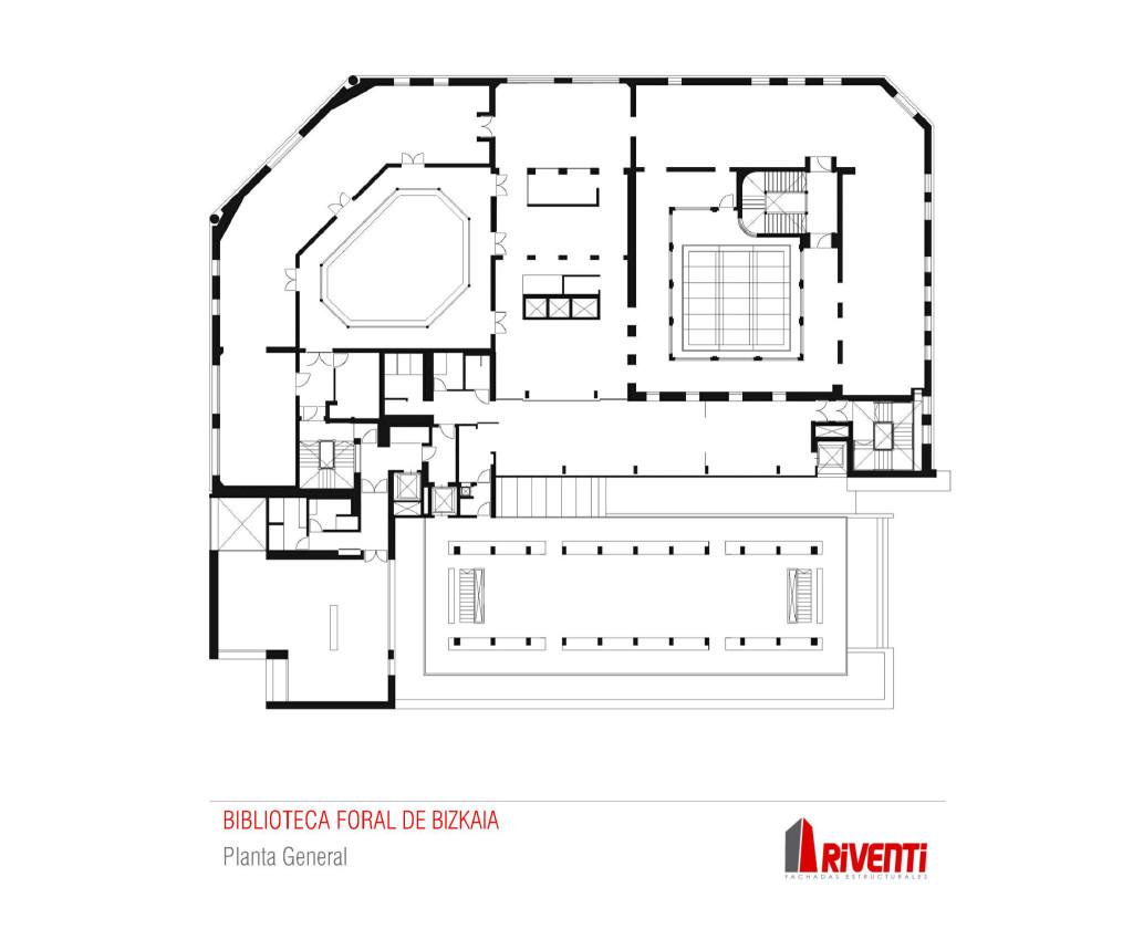 Fachada-biblioteca-foral-muro-cortina-modular-Riventi-planta-general