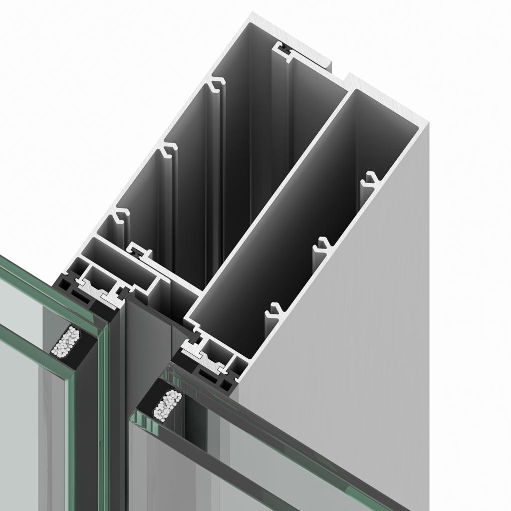 Sistema de muro cortina Modular RDS de Riventi para fachadas especiales