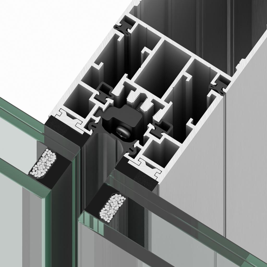 Sistema de muro cortina R70ST de Riventi para fachadas especiales y dobles pieles