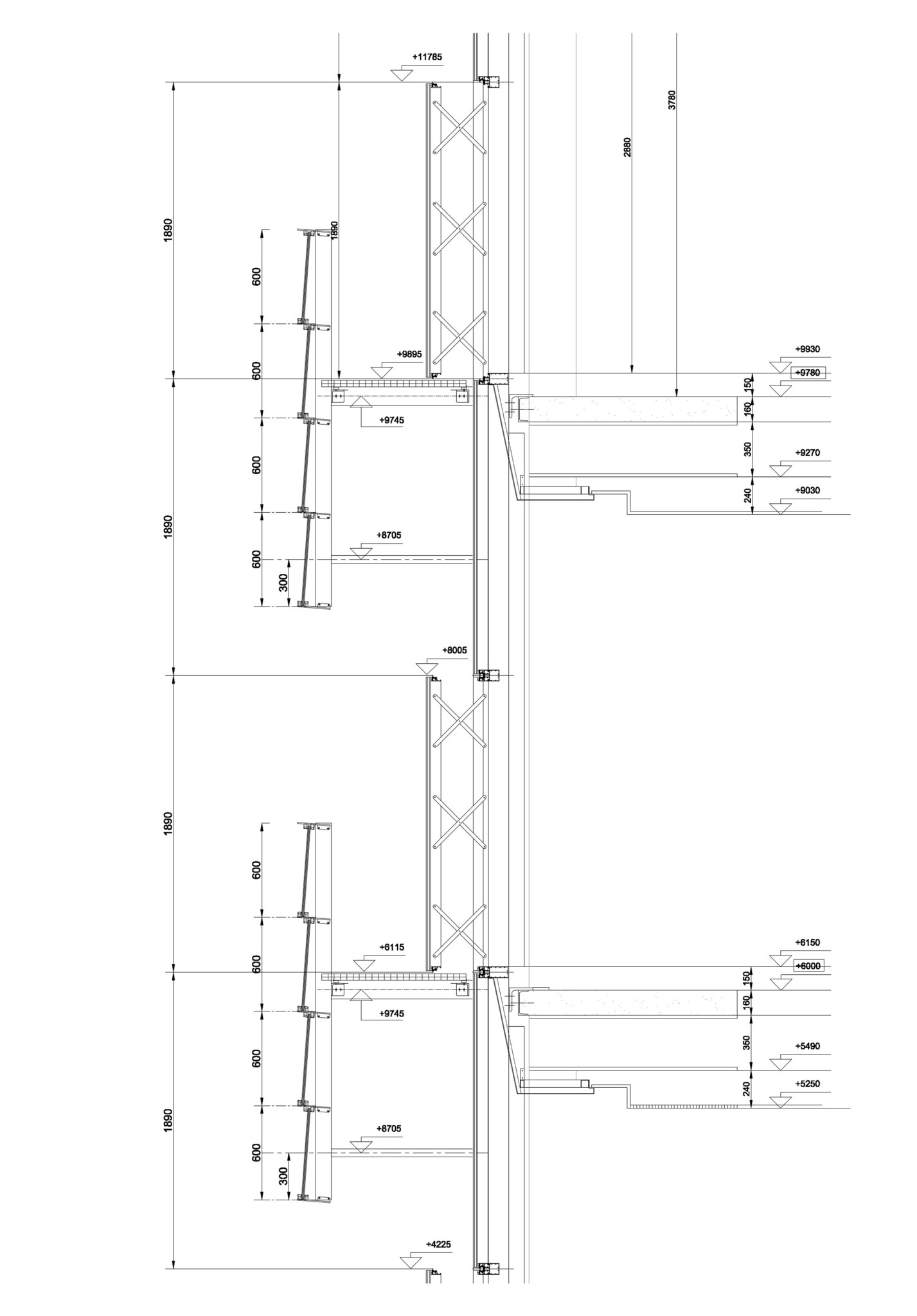 oficinas-riventi-fachada-muro-cortina-doble-piel detalle constructivo