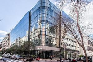 oficinas-telefonica-dictel-ramon-cruz-madrid-muro-cortina-vidrio-curvo-doble-fachada-riventi (8)