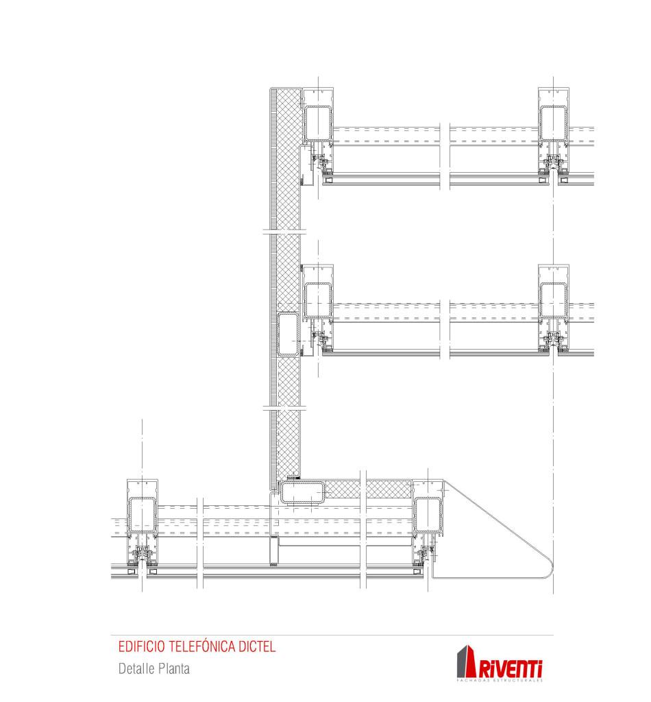 oficinas-telefonica-dictel-ramon-cruz-madrid-muro-cortina-vidrio-curvo-doble-fachada-riventi -detalle-constructivo
