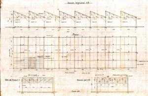 1924_Planta y sección_Naves_Cuatrocaminos