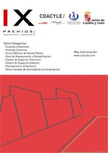 Cartel IX Premios de Arquitectura y Urbanismo de Castilla y León