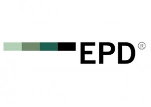 Logo del sistema internacional EPD obtenido por los sistemas de muro cortina de Riventi