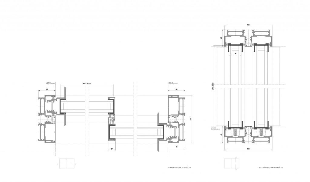Amplitude Detalle constructivo ventana minimalista grandes dimensiones