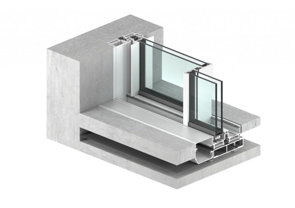 AMPLITUDE ventana minimalista de grandes dimensiones