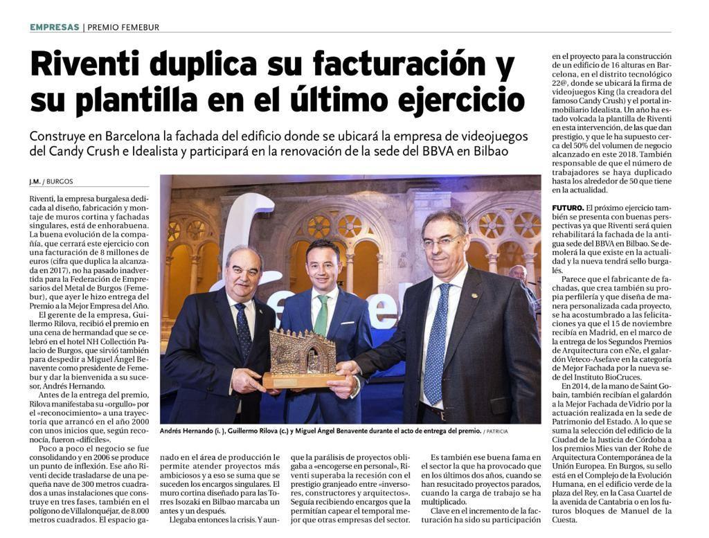 G_N_181124_Riventi duplica su fuacturación_Diario de Burgos